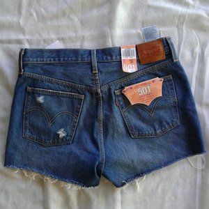 Levi's 501 cut off jeans shorts NWT